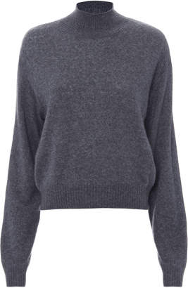 ADAM by Adam Lippes Brushed Cashmere Grey Sweater