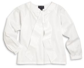 Little Girl's & Girl's Bow Blouse $110 thestylecure.com