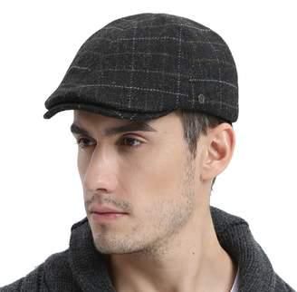 a4e76ce823b VOBOOM Mens Winter Wool Blend Newsboy Cap Warm Flat Ivy Driving Cap