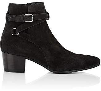 Saint Laurent Women's Blake Suede Jodhpur Boots