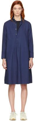 Blue Blue Japan Navy Small Collar Pullover Dress
