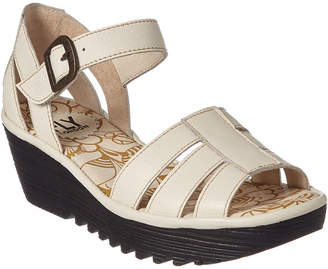 Fly London Rese Leather Wedge Sandal