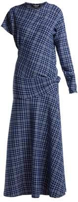 Calvin Klein Checked cotton-blend dress