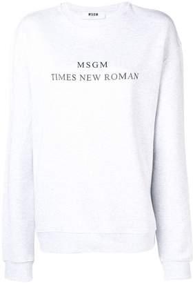 MSGM Times New Roman sweatshirt
