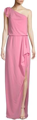 Halston Women's One-Shoulder Crepe Gown