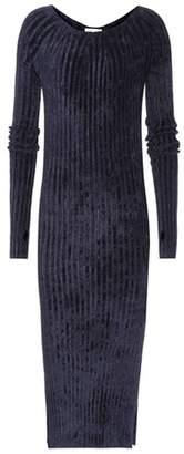 Helmut Lang Ribbed-velvet sweater dress