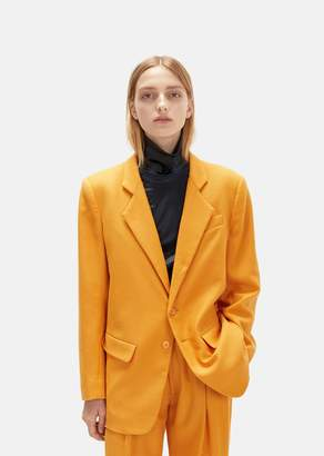 Eckhaus Latta Wool & Cashmere Blazer Persimmon