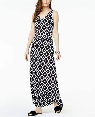 INC International Concepts I.N.C. Printed V-Back Maxi Dress, Created for Macy's
