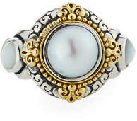 Konstantino Hestia Mother-of-Pearl Ring