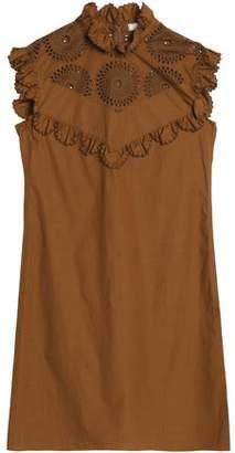 Nina Ricci Scalloped Broderie Anglaise Cotton-Poplin Dress