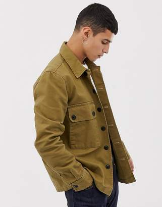 Nudie Jeans Sten military shirt in khaki