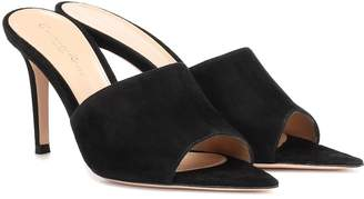 Gianvito Rossi Pointy 85 suede mules