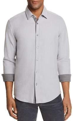 BOSS Lukas Contrast-Trim Shirt
