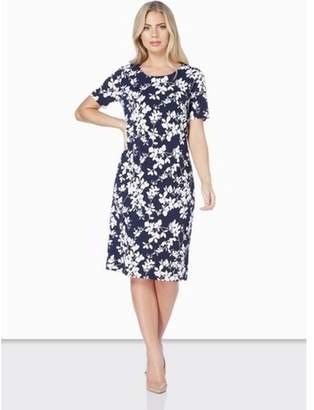 Dorothy Perkins Womens *Roman Originals Navy Floral Print Shift Dress