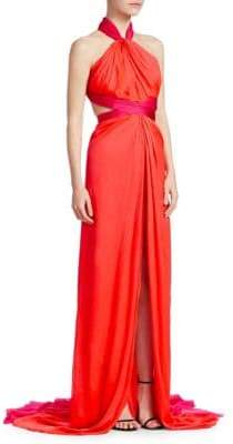 Brandon Maxwell Silk Chiffon Gown