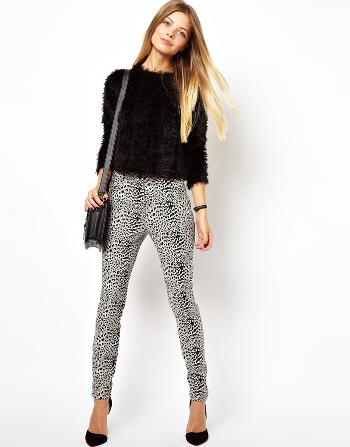 Asos Super Skinny Trousers in Leopard Print
