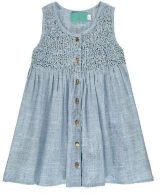 Lulu Sale Buttoned Smock Dress - Lulaland