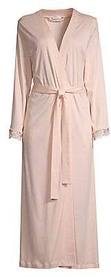 Hanro Women's Flora Lace-Trim Robe