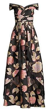 Aidan Mattox Women's Off-The-Shoulder Floral Ball Gown