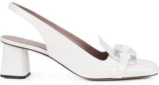 Rayne lucite toe sling back sandals