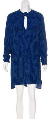 Balenciaga Striped Shift Dress