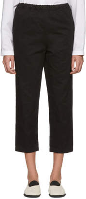Marni Black Drawstring Cropped Trousers