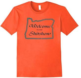 Oregon Welcome Distressed Funny T-Shirt