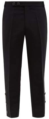 Namacheko Bawanim Button Cuff Cropped Cotton Blend Trousers - Mens - Black