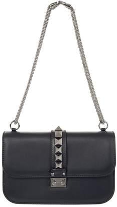 Valentino Medium Leather Rockstud Lock Bag