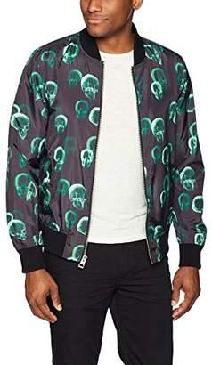 GUESS Men's Long Sleeve X Ray Skull Bomber Jacket