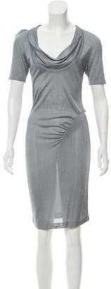Alexander McQueen Gathered Knit Dress