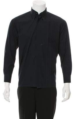Hermes Pleated Button-Up Top