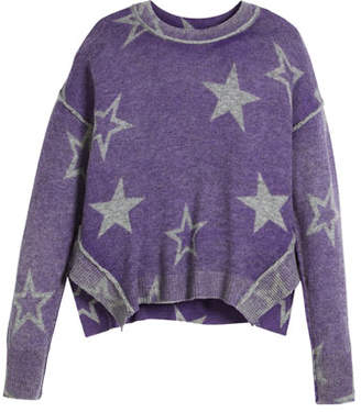 Autumn Cashmere Stellar Inked Boxy Crewneck Sweater, Size 6-16