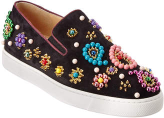 Christian Louboutin Boat Candy 20 Suede Slip-On Sneaker