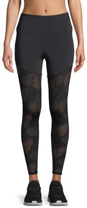 Onzie Half/Half 2.0 Patterned Mesh Performance Leggings