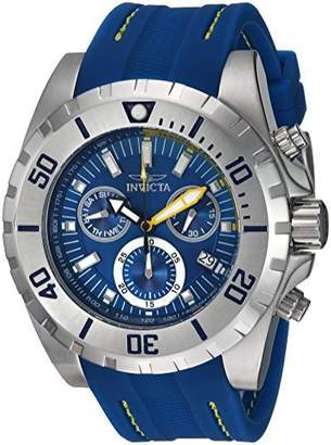Invicta Men's 'Pro Diver' Quartz Stainless Steel and Polyurethane Casual Watch