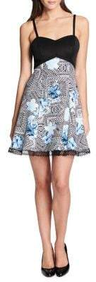 GUESS Floral Lace Mini Dress