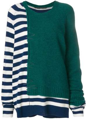Haider Ackermann panelled jumper