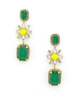 Elizabeth Cole Graham Dangle Earrings