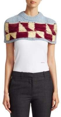 Calvin Klein Woven Knit Macro Poncho