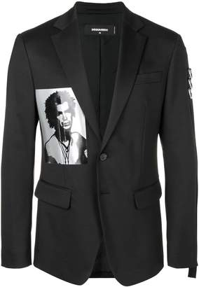 DSQUARED2 photographic print blazer