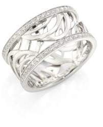 De Beers Aria Diamond& 18K White Gold Band Ring