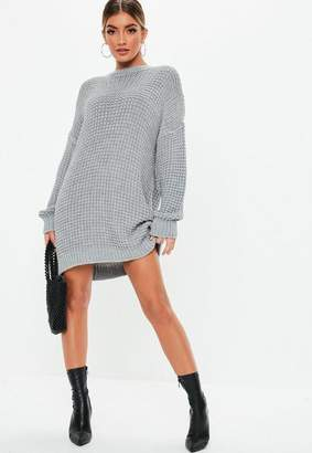 53932be4406 Missguided Gray Chunky Knit Sweater Dress