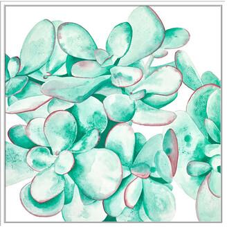 Jonathan Bass Studio Desert Floral Ii, Decorative Framed Hand Embellished Canvas