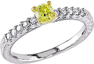 Affinity Diamond Jewelry Yellow Diamond Engagement Ring, 14K, 1/2 cttw,by Affinity
