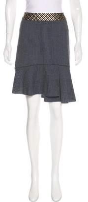 Blumarine Silk & Wool Knee-Length Skirt
