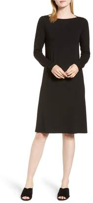 Eileen Fisher Bateau Neck Jersey Dress