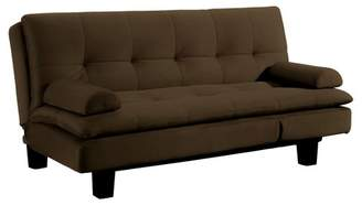 Serta Allen 4 Position Convertible Sofa in Java with Tan Stitching