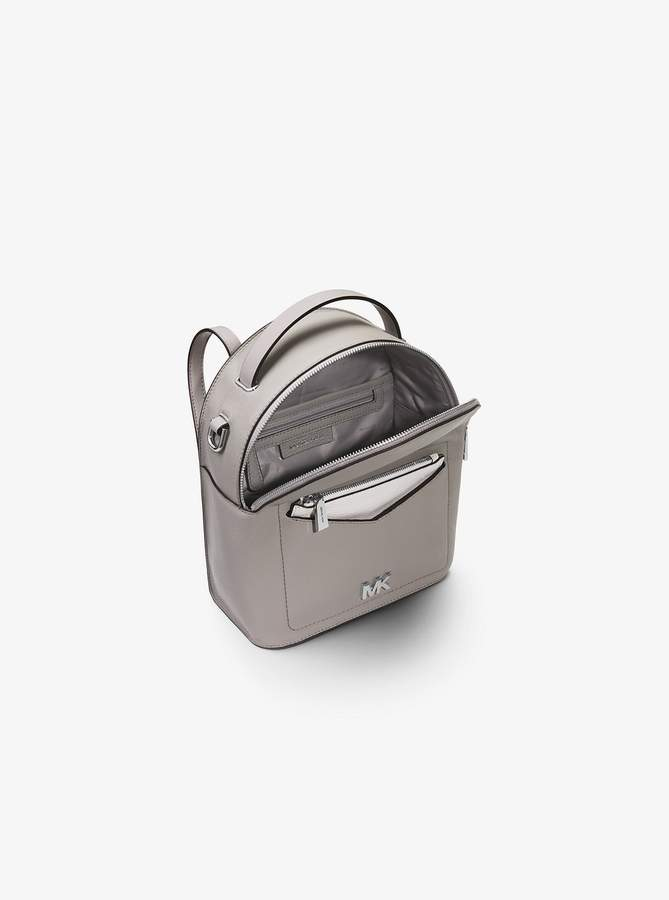 76f5bc67e72df8 Michael Michael Kors Jessa Small Pebbled Leather Convertible Backpack  detail image