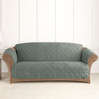 Sure Fit Microfiber Non-Skid Pet Sofa Cover